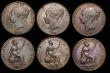 London Coins : A172 : Lot 1590 : Pennies (6) 1841 REG No Colon Peck 1484 GVF/VF the reverse with some surface residue, 1847 DEF Close...