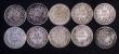 London Coins : A172 : Lot 1615 : Sixpences (10) 1851 G's have only one serif ESC 1696, Bull 3187, Davies 1046 VG, 1852 G's ...