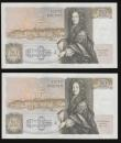 London Coins : A172 : Lot 37 : Fifty pounds Somerset B352 issued 1981 (2 consecutives) series B10 323115 and 116, Christopher Wren ...