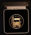 London Coins : A172 : Lot 376 : Alderney £25 Gold 2004 Locomotive - Rocket KM#51 Gold Proof FDC in the Royal Mint box of issue...