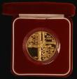 London Coins : A172 : Lot 379 : Alderney Five Pounds 2002 Queen Elizabeth II Golden Jubilee Gold Proof Piedfort, design as KM#24 unl...