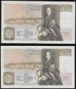 London Coins : A172 : Lot 40 : Fifty pounds Somerset B352 issued 1981 (2 consecutives) series B10 323121 and 122, Christopher Wren ...