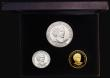 London Coins : A172 : Lot 413 : Guernsey a 3-coin set 1999 Life of the Queen Mother comprising £25 Gold 1999 KM#135 .999 Gold ...