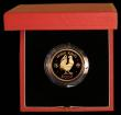 London Coins : A172 : Lot 434 : Hong Kong $1000 Gold 1981 Year of the Cockerel KM#48 Proof FDC in the red Royal Mint box of issue wi...