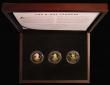 London Coins : A172 : Lot 451 : Isle of Man Two Pounds 2019 The D-Day Leaders 3 coin Gold Proof Set comprising Jody Clark obverse Do...