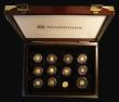 London Coins : A172 : Lot 487 : The Smallest Gold Coins in the World a 12-coin set 1993-2004 comprising Proof and UNC issues from Sa...