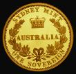 London Coins : A172 : Lot 514 : Australia 25 Dollars Gold 2005 150th Anniversary of the First Australian Sovereign KM#868 Proof FDC ...