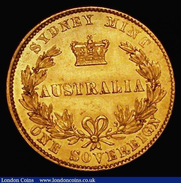 Australia Sovereign 1857 Sydney Branch Mint Marsh 362 EF with subdued brilliance and some hairline scratches on the reverse and very scarce in this high grade : World Coins : Auction 172 : Lot 519