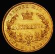 London Coins : A172 : Lot 519 : Australia Sovereign 1857 Sydney Branch Mint Marsh 362 EF with subdued brilliance and some hairline s...