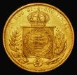London Coins : A172 : Lot 529 : Brazil 10000 Reis Gold 1867 KM#467 Good Fine/About VF with some edge nicks