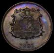 London Coins : A172 : Lot 535 : British North Borneo Half Cent 1891H KM#1 UNC and nicely toned