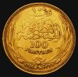 London Coins : A172 : Lot 554 : Egypt 100 Piastres Gold 1916 KM#324 NVF, our archive database stretching back to 2003 shows that thi...