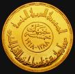 London Coins : A172 : Lot 556 : Egypt Five Pounds Gold 1968 1400th Anniversary of the Koran KM#416, UNC and lustrous with some conta...