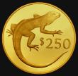 London Coins : A172 : Lot 562 : Fiji $250 Gold 1978 Wildlife Conservation Series - Iguana KM#43 Gold Proof the odd minor hairline an...