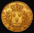 London Coins : A172 : Lot 567 : France 20 Francs Gold 1815A Paris Mint KM#706.1 NEF with some light adjustment lines