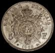 London Coins : A172 : Lot 569 : France 5 Francs 1868A KM#799.1 GEF with some small rim nicks and small tone spots