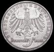 London Coins : A172 : Lot 586 : Germany - Federal Republic 5 Marks 1955F 150th Anniversary of the Death of Friedrich von Schiller KM...
