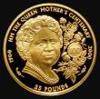 London Coins : A172 : Lot 591 : Guernsey £25 Gold Quarter Ounce 2000 Queen Mother 100th Birthday KM#103 7.85 grammes of 0.999 ...