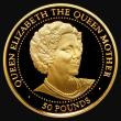London Coins : A172 : Lot 592 : Guernsey £50 Gold Half Ounce 1999 The Life of the Queen Mother, KM#136 .999 Gold Proof, the od...