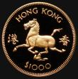 London Coins : A172 : Lot 595 : Hong Kong $1000 Gold 1978 Year of the Horse KM#44 Proof FDC uncased