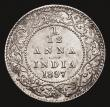 London Coins : A172 : Lot 599 : India 1/12th Anna 1897 KM#483 NEF silvered