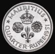 London Coins : A172 : Lot 628 : Mauritius Quarter Rupee 1951 VIP Proof/Proof of Record KM#27 nFDC retaining practically full mint br...