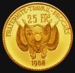 London Coins : A172 : Lot 637 : Niger 25 Francs Gold 1968 Reverse: Barbary Sheep KM#9.1 Gold Proof nFDC with the odd small contact m...