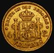 London Coins : A172 : Lot 644 : Philippines Four Pesos Gold 1865 KM#144 Good Fine or better, our archive database stretching back to...