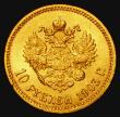 London Coins : A172 : Lot 646 : Russia 10 Roubles Gold 1903AP Y#64 EF with an edge nick