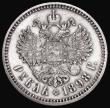 London Coins : A172 : Lot 649 : Russia One Rouble 1898AГ Y#59.3 About EF with some light hairlines