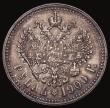 London Coins : A172 : Lot 651 : Russia Rouble 1900 φЗ Y#59.3 VF with a deep golden tone