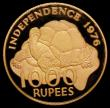 London Coins : A172 : Lot 657 : Seychelles 1000 Rupeses Gold 1976 Declaration of Independence, Reverse: Tortoise KM#29 Gold Proof FD...