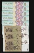 London Coins : A172 : Lot 66 : Australia One Dollar (3)  1983 issue signatures Johnston and Stone Pick 42d UNC includes two consecu...