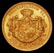 London Coins : A172 : Lot 678 : Sweden 20 Kronor Gold 1884 EB KM#748 AU/UNC and lustrous the obverse with prooflike fields, a most a...