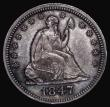 London Coins : A172 : Lot 713 : USA Quarter Dollar 1847 Doubled Reverse die, the doubling very clear on QUAR and DOL, Breen 3970 EF ...