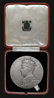 London Coins : A172 : Lot 744 : Coronation of George VI 1937 The Official Royal Mint issue 57mm diameter in silver Eimer 2046a, 84.3...