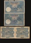 London Coins : A172 : Lot 75 : Belgian Congo (4) 5 Francs Pick 13a (2) 1943 and 1947, 20 Francs 10.9.40 Pick 15 (2) generally appro...
