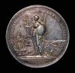 London Coins : A172 : Lot 771 : Peace of Utrecht 1713 35mm diameter in silver by J. Croker. Obverse: Bust left, draped and laureate,...