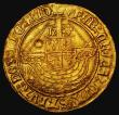 London Coins : A172 : Lot 853 : Angel Henry VII Type V. Large Crook-shaped abbreviation after HENRIC S.2187, North 1698, mintmark Ph...