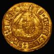 London Coins : A172 : Lot 857 : Half Angel Henry VIII First Coinage S.2266, North 1761, Schneider 566, mintmark Castle 2.60 grammes,...