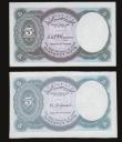 London Coins : A172 : Lot 86 : Egypt 10 5 Piastres ND(1940) (2) both without serial number and prefix both Unc