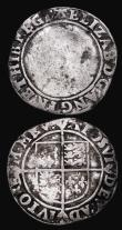 London Coins : A172 : Lot 864 : Threehalfpence Elizabeth I 1561 Smaller flan of 10.5 to 11.5mm S.2569 mintmark Pheon, 0.79 grammes, ...