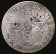 London Coins : A172 : Lot 866 : Crown 1696 OCTAVO Third Bust, as ESC 94, Bull 1004, but unusually, having a very clear colon rather ...