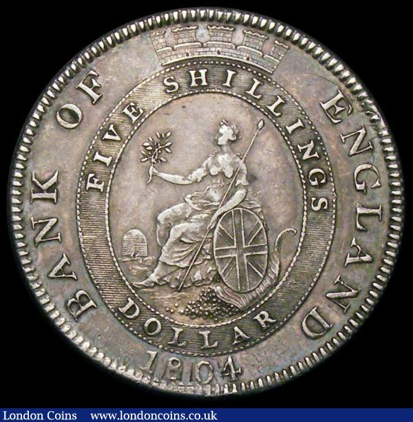 Dollar Bank of England 1804 No Stop after REX Obverse E, Reverse 2 ESC 164, Bull 1951 NVF with I.S stamped on the bust : English Coins : Auction 172 : Lot 889