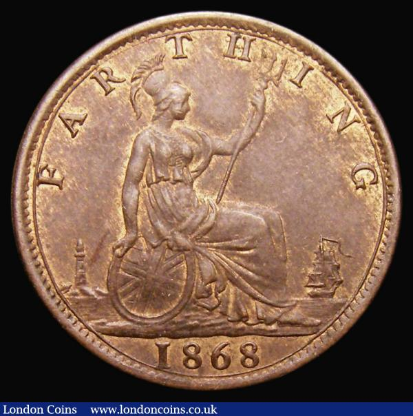 Farthing 1868 Freeman 519 dies 3+B LCGS 78 : English Coins : Auction 172 : Lot 926
