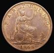 London Coins : A172 : Lot 926 : Farthing 1868 Freeman 519 dies 3+B LCGS 78
