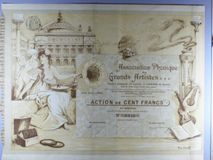 London Coins : A122 : Lot 29 : France, Association Phonique des Grands Artistes, certificate for one share, Paris 1906&...