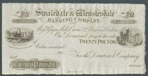 London Coins : A122 : Lot 299 : Swaledale & Wensleydale Banking Company £20 dated 186x unissued remainder, Grant5657A&...