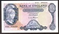 London Coins : A129 : Lot 263 : Five pounds O'Brien B280 Helmeted Britannia issued 1961 last series prefix K42, about UNC to UNC