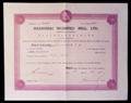 London Coins : A129 : Lot 40 : China, Shanghai Worsted Mill Ltd., incorporated in Hong Kong, certificate No.505 for ord...